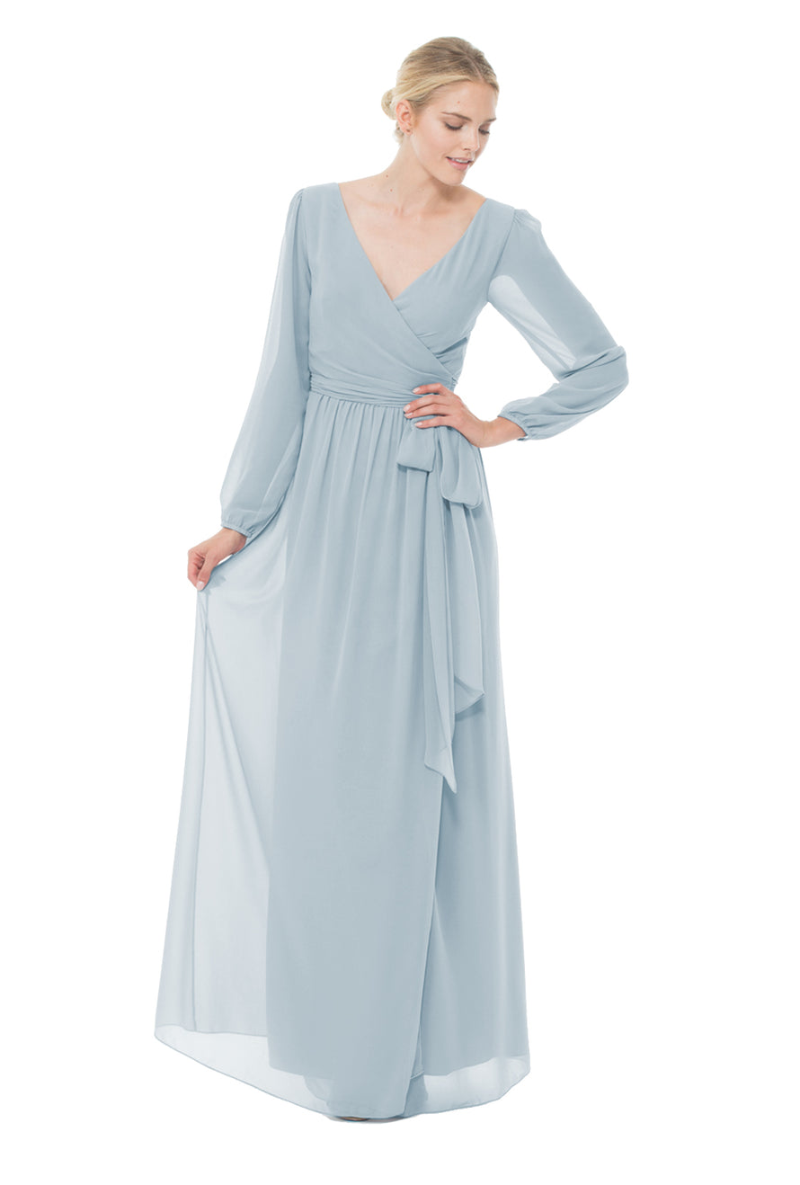 Joanna August Long Bridesmaid Dress Holly