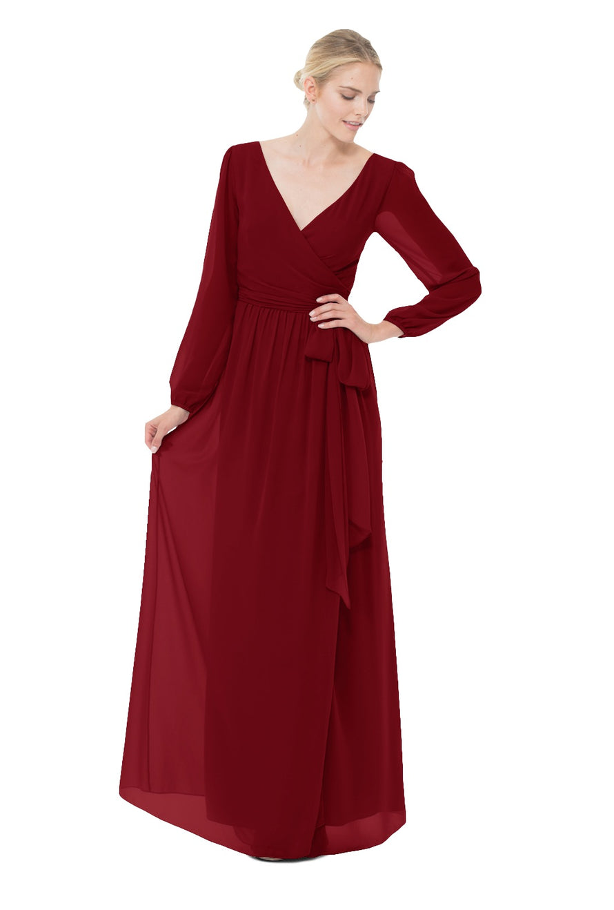 Merlot Long Bridesmaid Dress