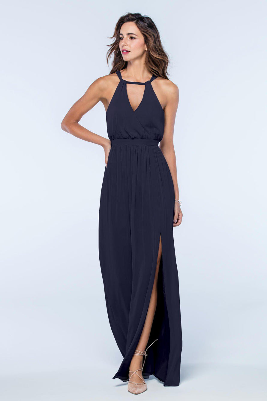 Watters Dress Fleurette indigo