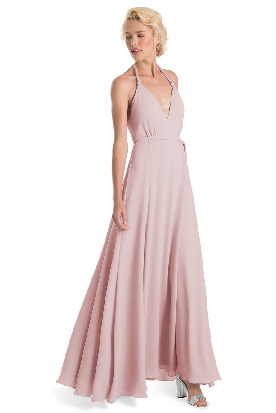 Joanna August Long Bridesmaid Dress Francesca-Rosewater
