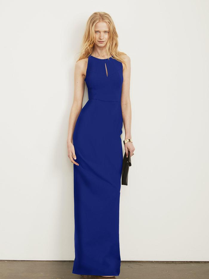 Cobalt Altress Jenny Keyhole Long Bridesmaid Dress