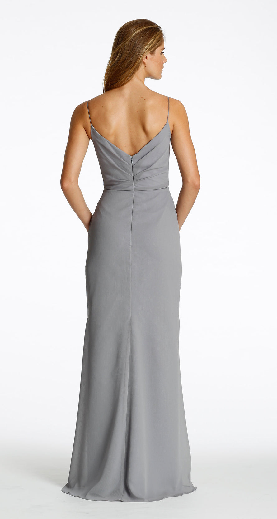 Hayley Paige Occasions Long Bridesmaid Dress - 5603 back