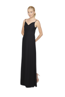 Black Long Bridesmaid Dress Kimi