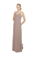 Brown Long Bridesmaid Dress Kimi