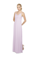 Lavender Bridesmaid Long Dress