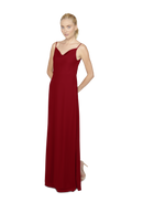 Merlot Long Bridesmaid Dress Kimi