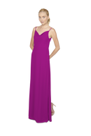 Fuchsia Pink Long Bridesmaid Dress Kimi