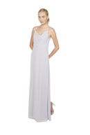 Silver Long Bridesmaid Dress Kimi