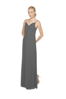 Grey Long Bridesmaid Dress Kimi