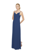 Navy Blue Long Bridesmaid Dress Kimi