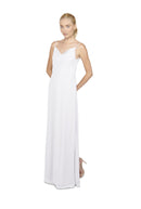 Joanna August Long Bridesmaid Dress Kimi Chiffon