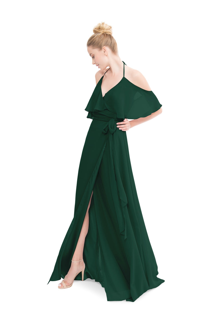 Emerald Green Joanna August Long Bridesmaid Dress Lauren