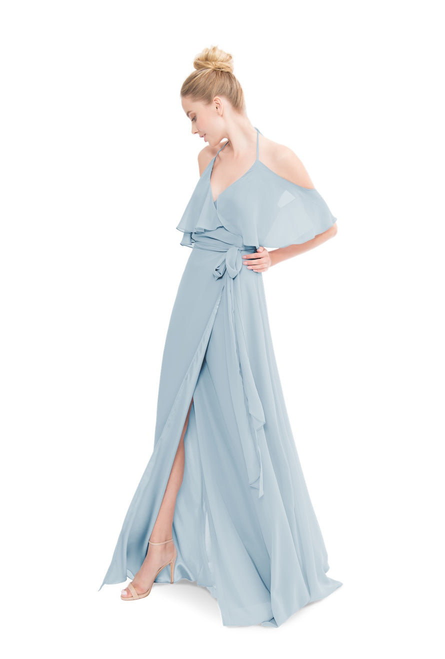 Whisper Blue Joanna August Long Bridesmaid Dress Lauren