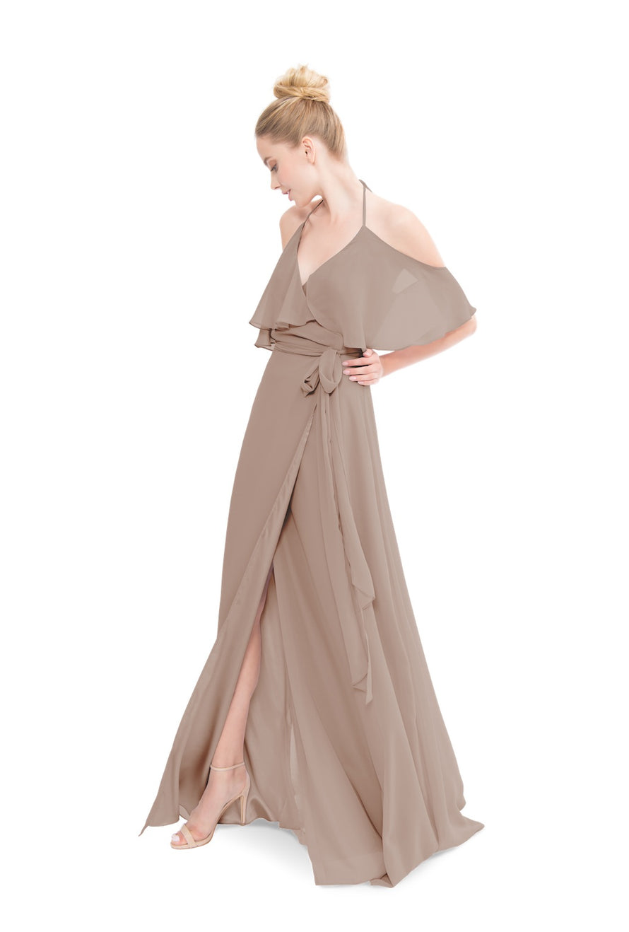Brown Joanna August Long Bridesmaid Dress Lauren