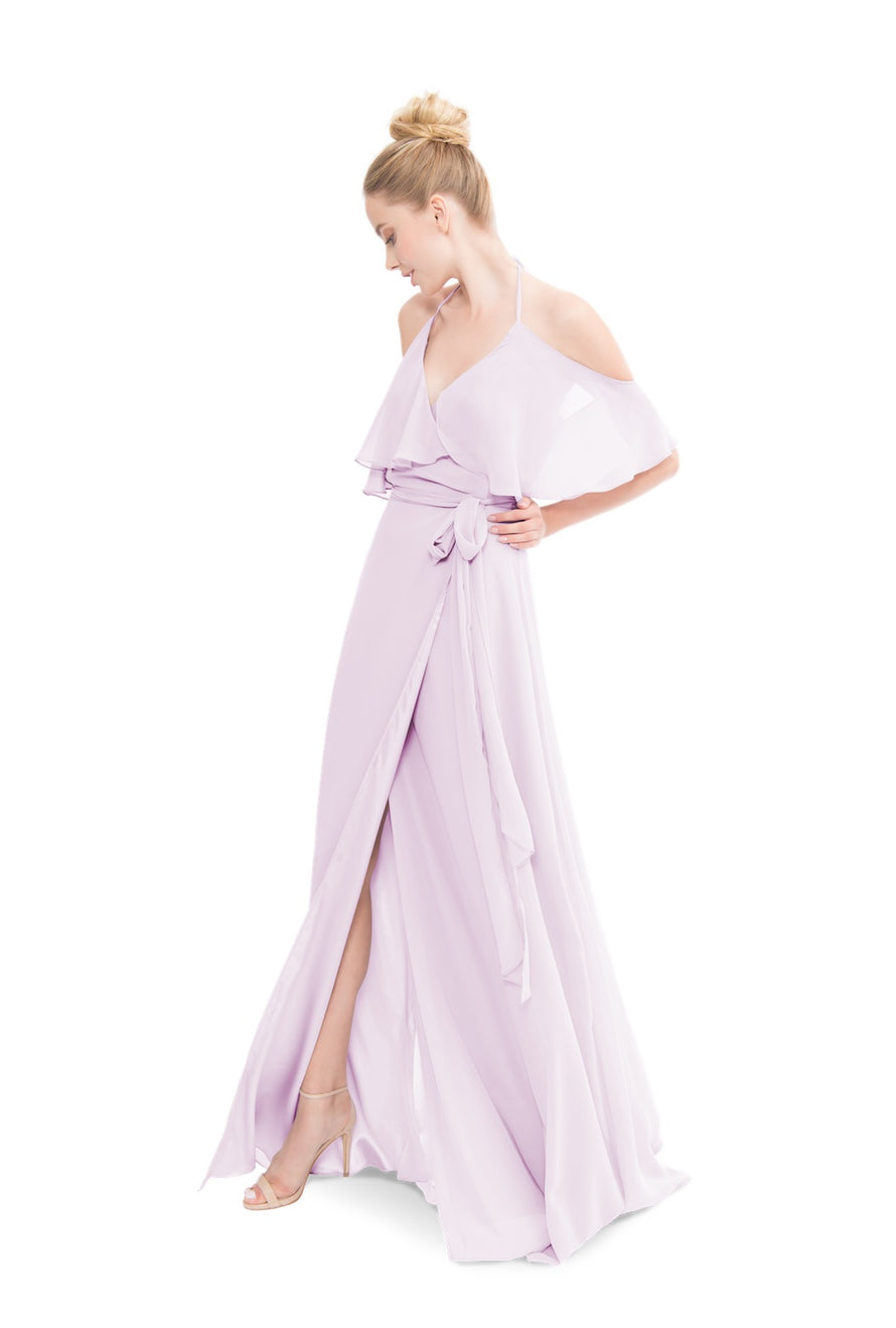 Lavender Joanna August Long Bridesmaid Dress Lauren
