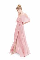 Pink Joanna August Long Bridesmaid Dress Lauren