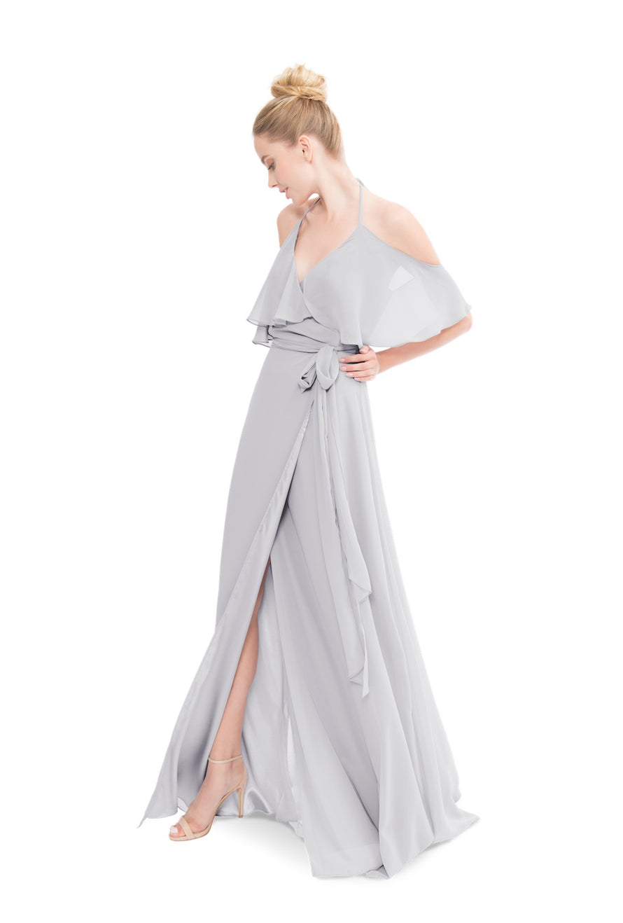 Silver Joanna August Long Bridesmaid Dress Lauren