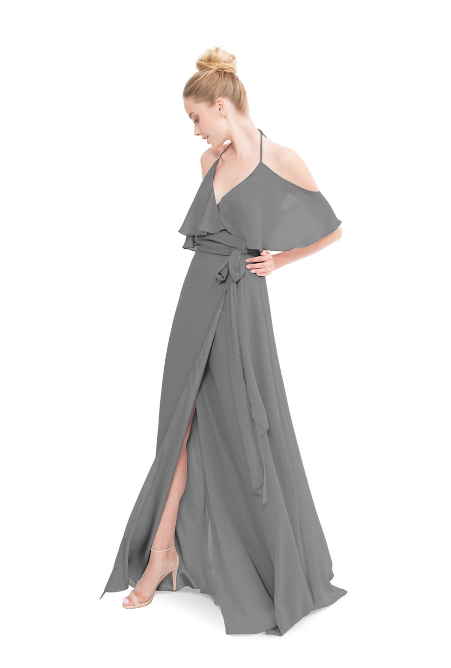 Grey Joanna August Long Bridesmaid Dress Lauren