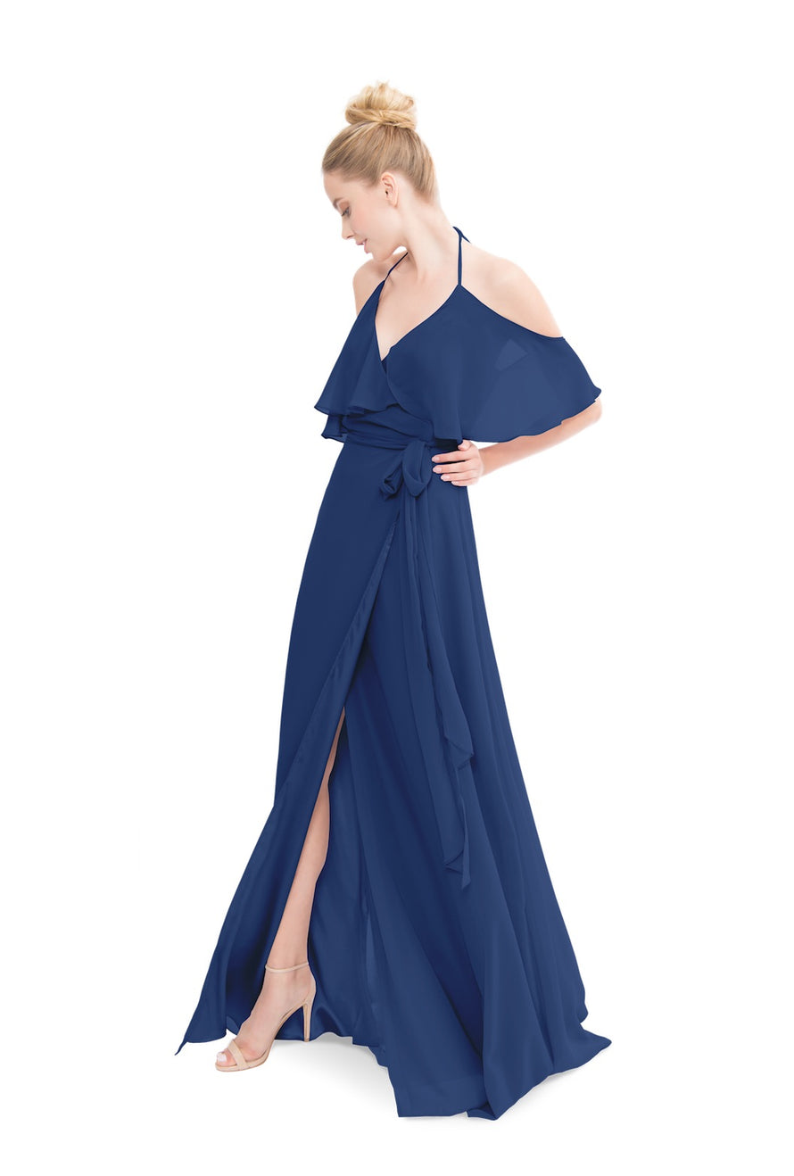 Navy Blue Joanna August Long Bridesmaid Dress Lauren