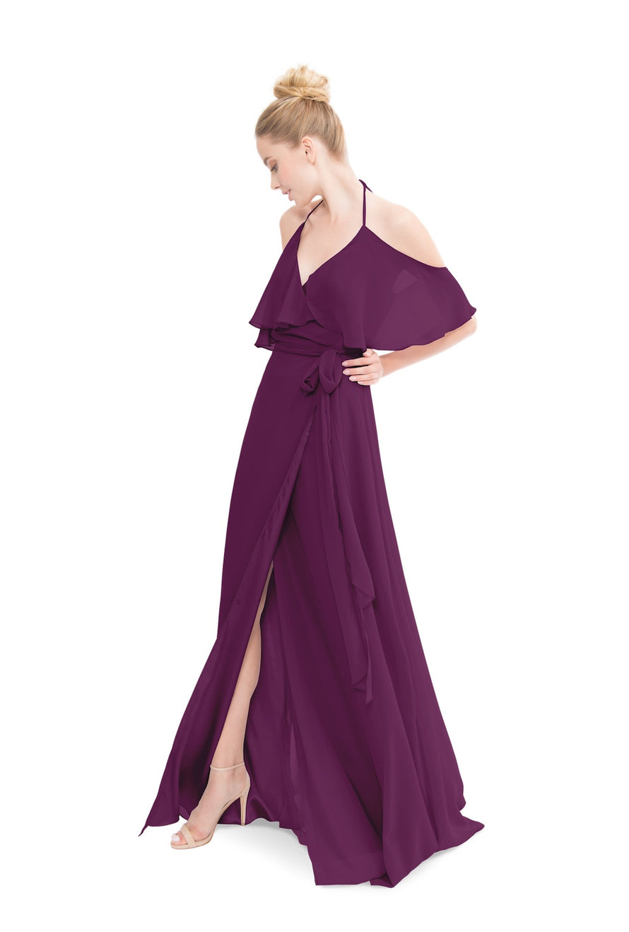 Purple Joanna August Long Bridesmaid Dress Lauren