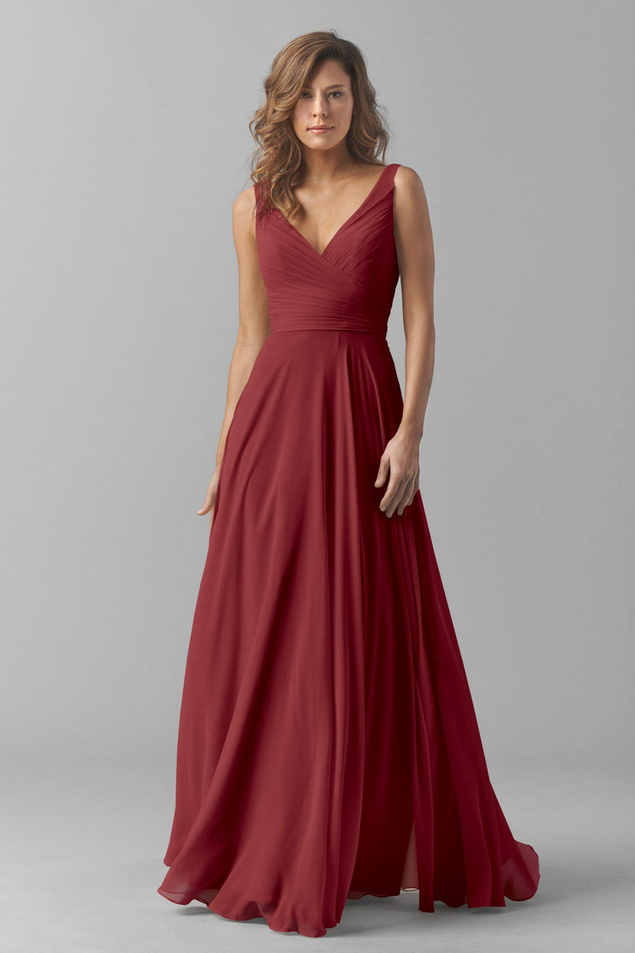 Watters Bridesmaid Dress Karen Marsala