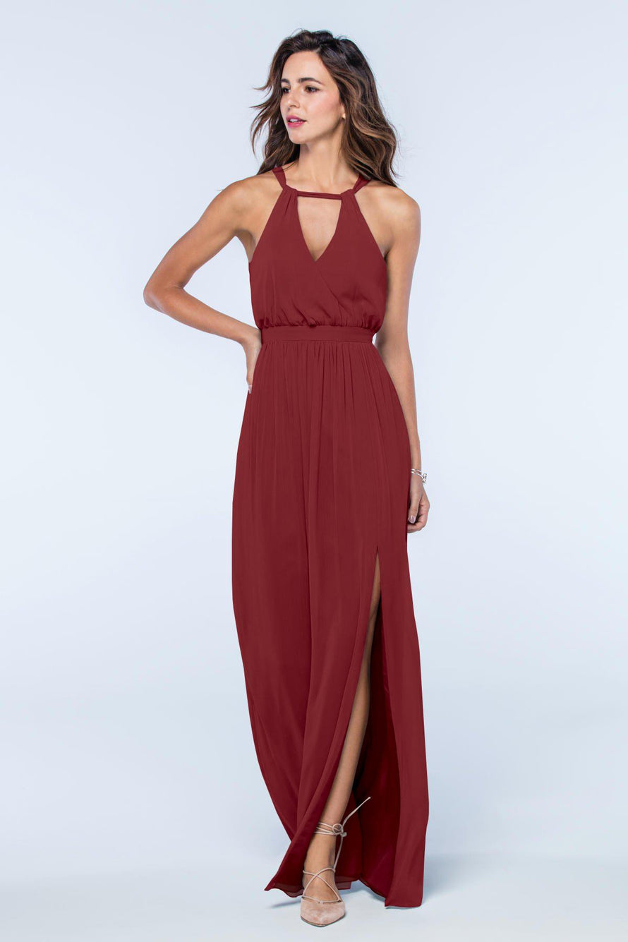 Watters Dress Fleurette marsala