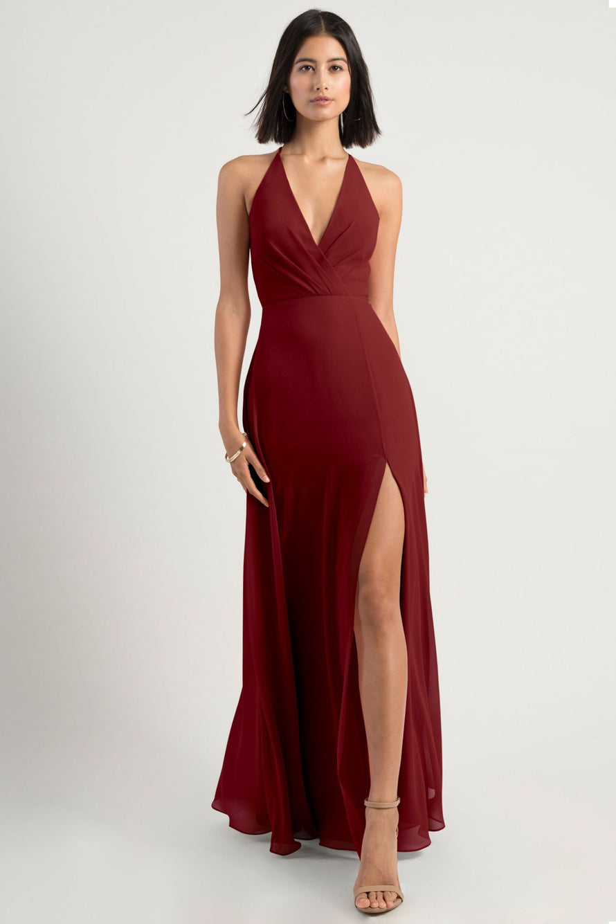 Jenny Yoo Bridesmaid Dress merlot