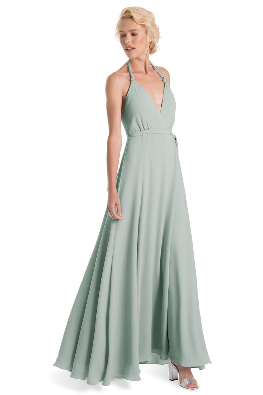 Joanna August Long Bridesmaid Dress Francesca-Sage