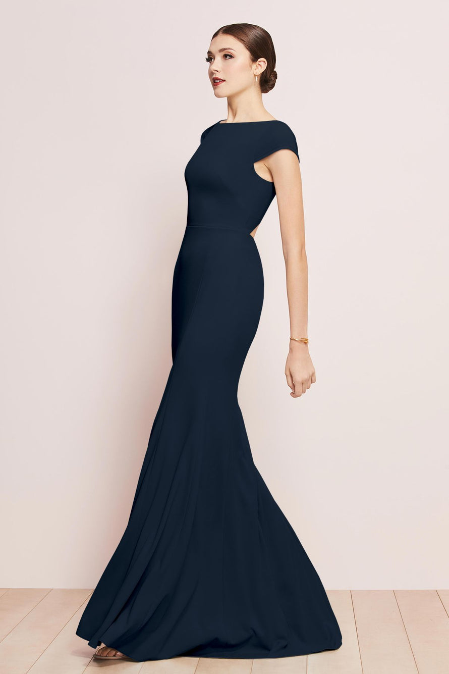 Watters Bridesmaid Dress Parker navy blue