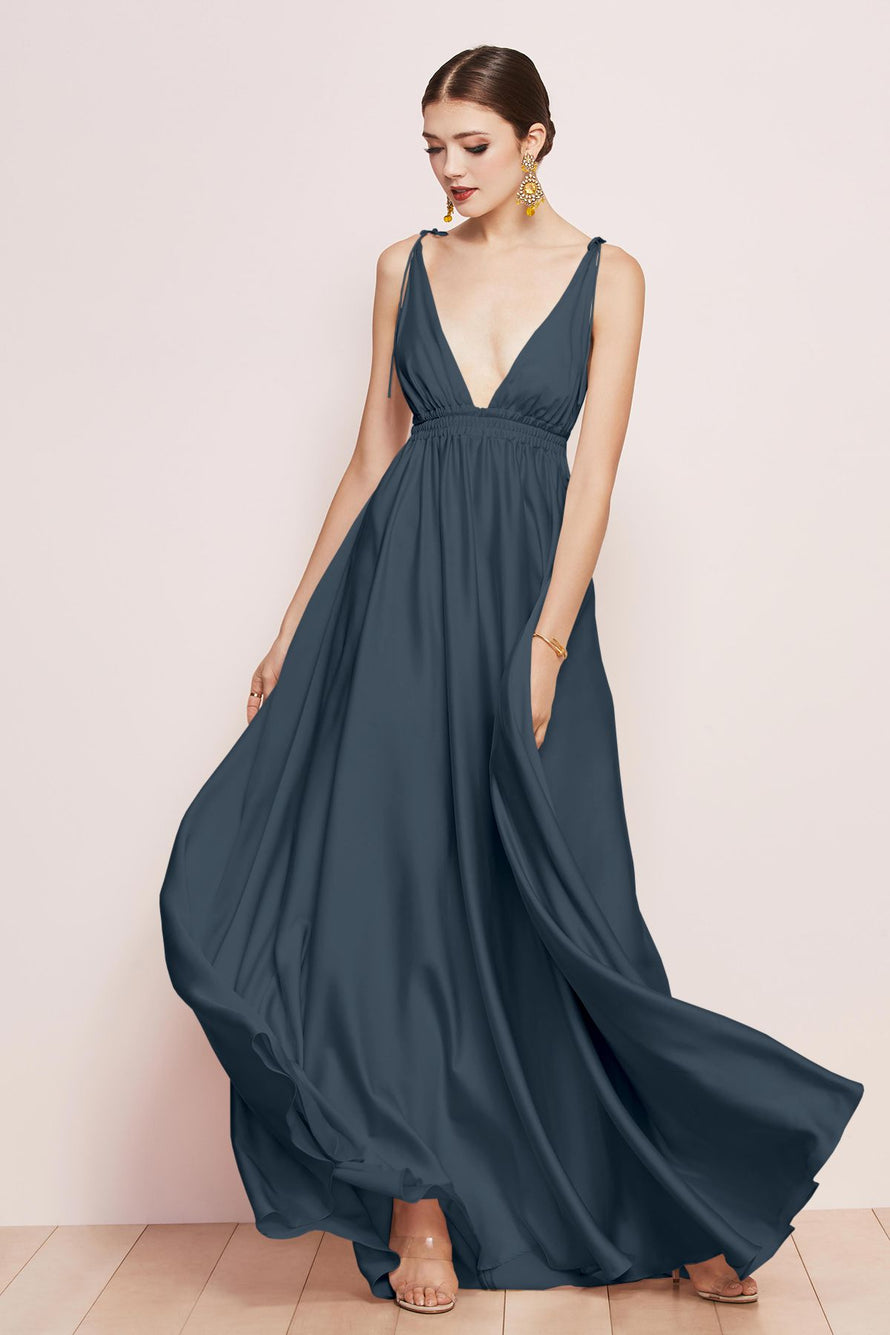 Watters Bridesmaid Dress Quentin navy blue