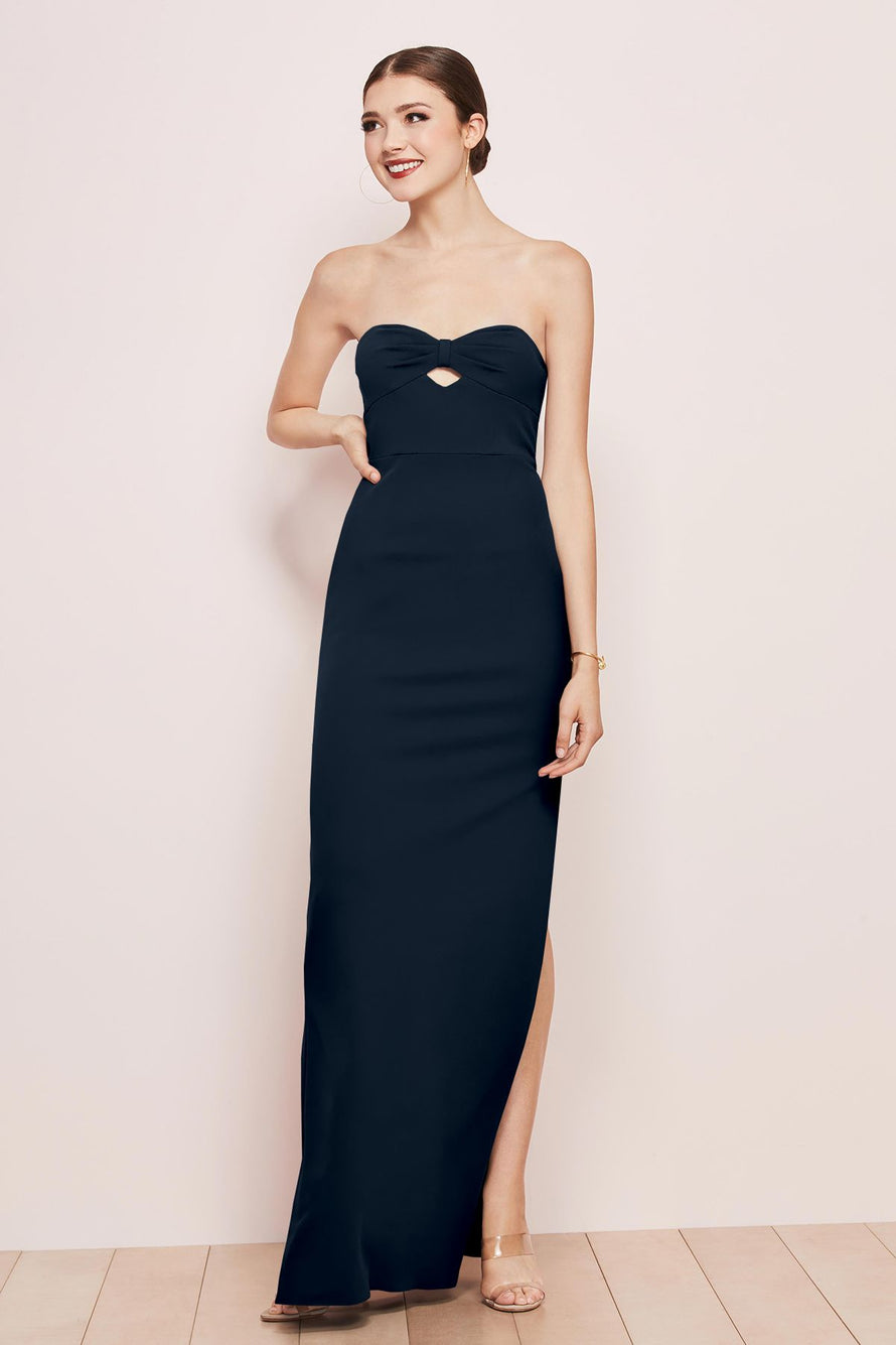 Watters Bridesmaid Dress Illiana Navy Blue