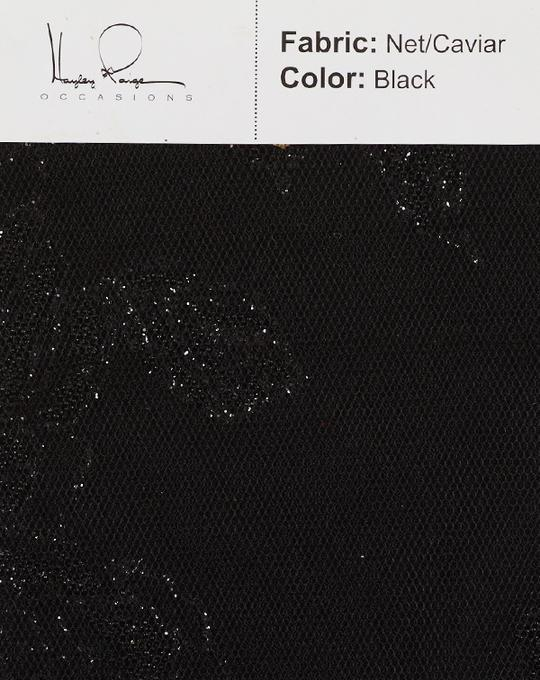 black-color-net-caviar-fabric