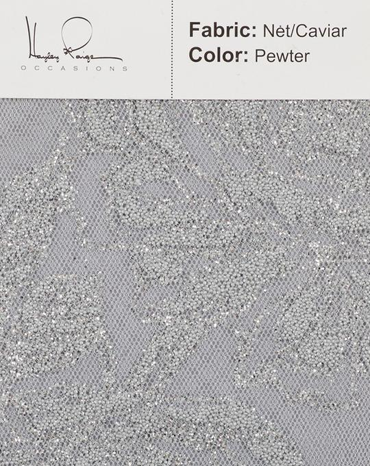 pewter-color-net-caviar-fabric