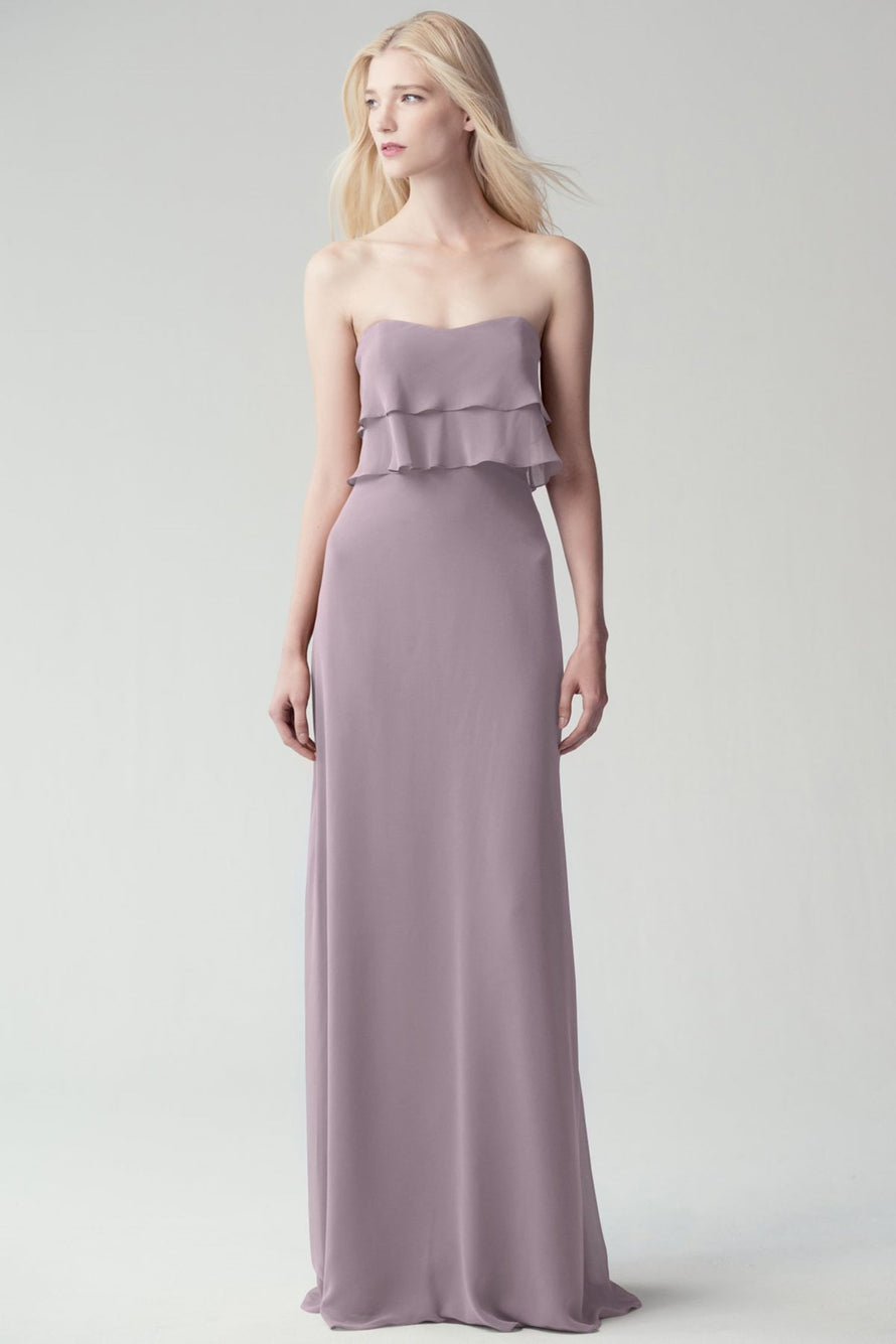 Jenny Yoo Long Bridesmaid Dress Olivia