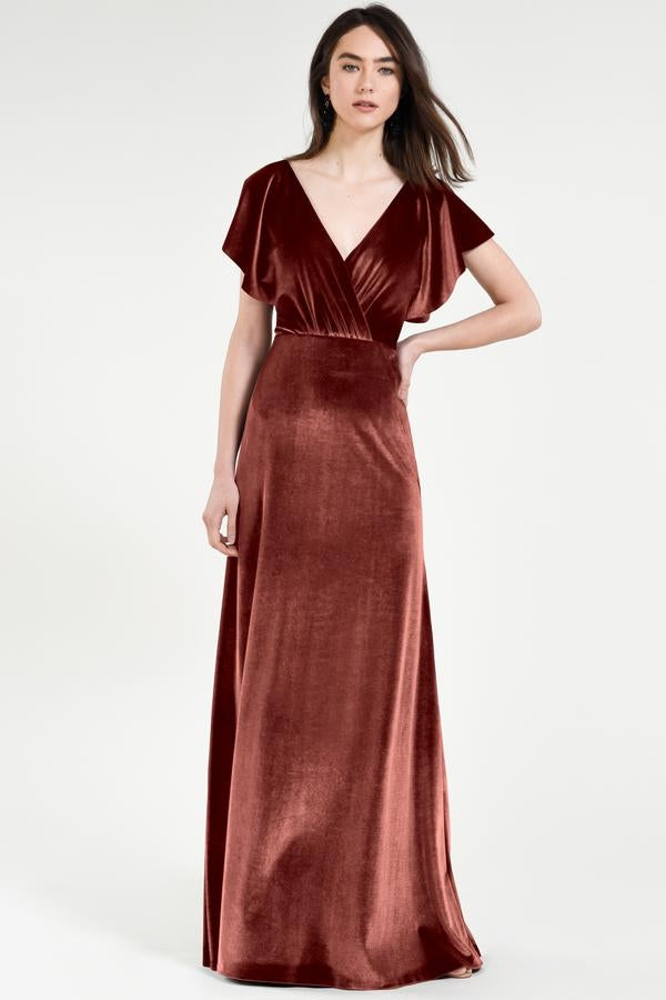 Jenny Yoo Long Bridesmaid Dress Ellis
