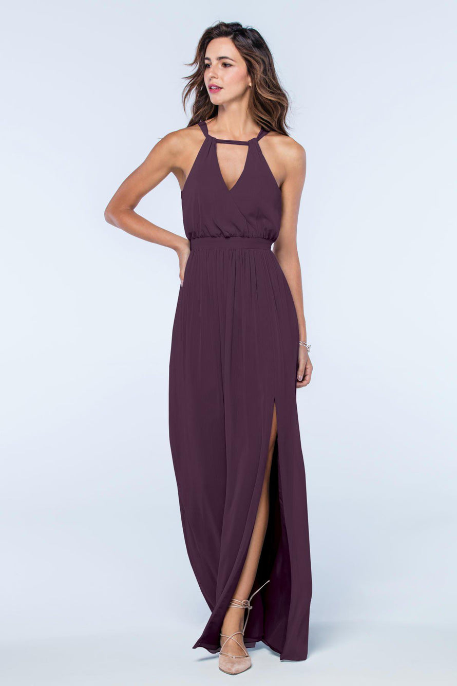 Watters Dress Fleurette plum