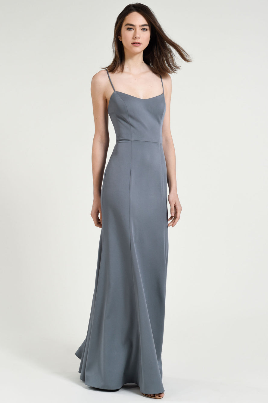 Hydrangea -Jenny Yoo Long Bridesmaid Dress Aniston