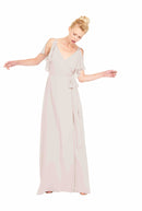 Joanna August Long Bridesmaid Dress Rebecca Nude