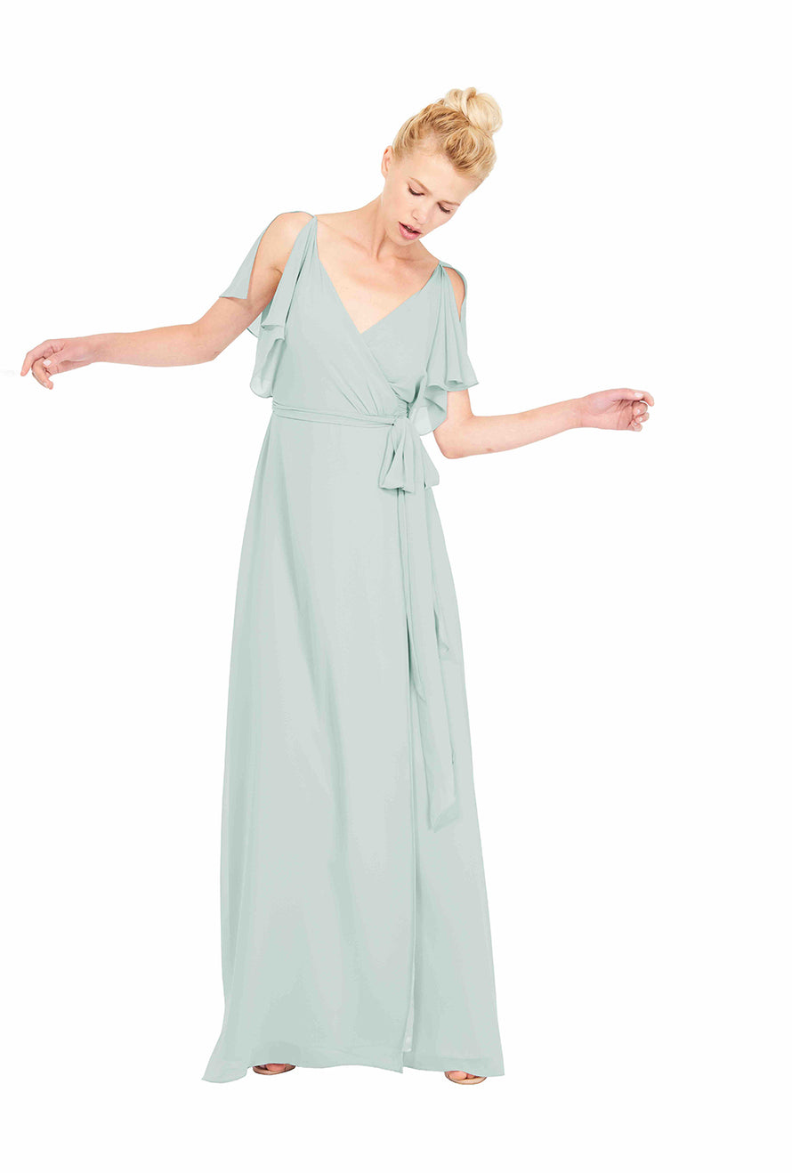 Joanna August Long Bridesmaid Dress Rebecca Sage
