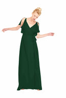 Joanna August Long Bridesmaid Dress Rebecca Emerald