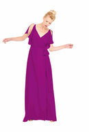 Joanna August Long Bridesmaid Dress Rebecca Fuchsia Pink