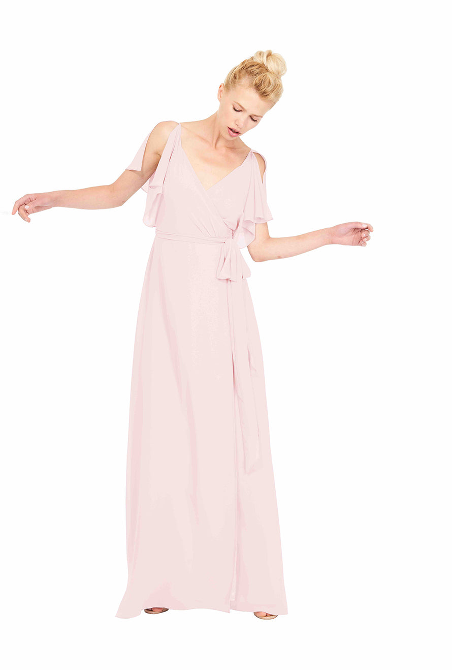 Wrap Dress Joanna August Long Bridesmaid Dress Rebecca