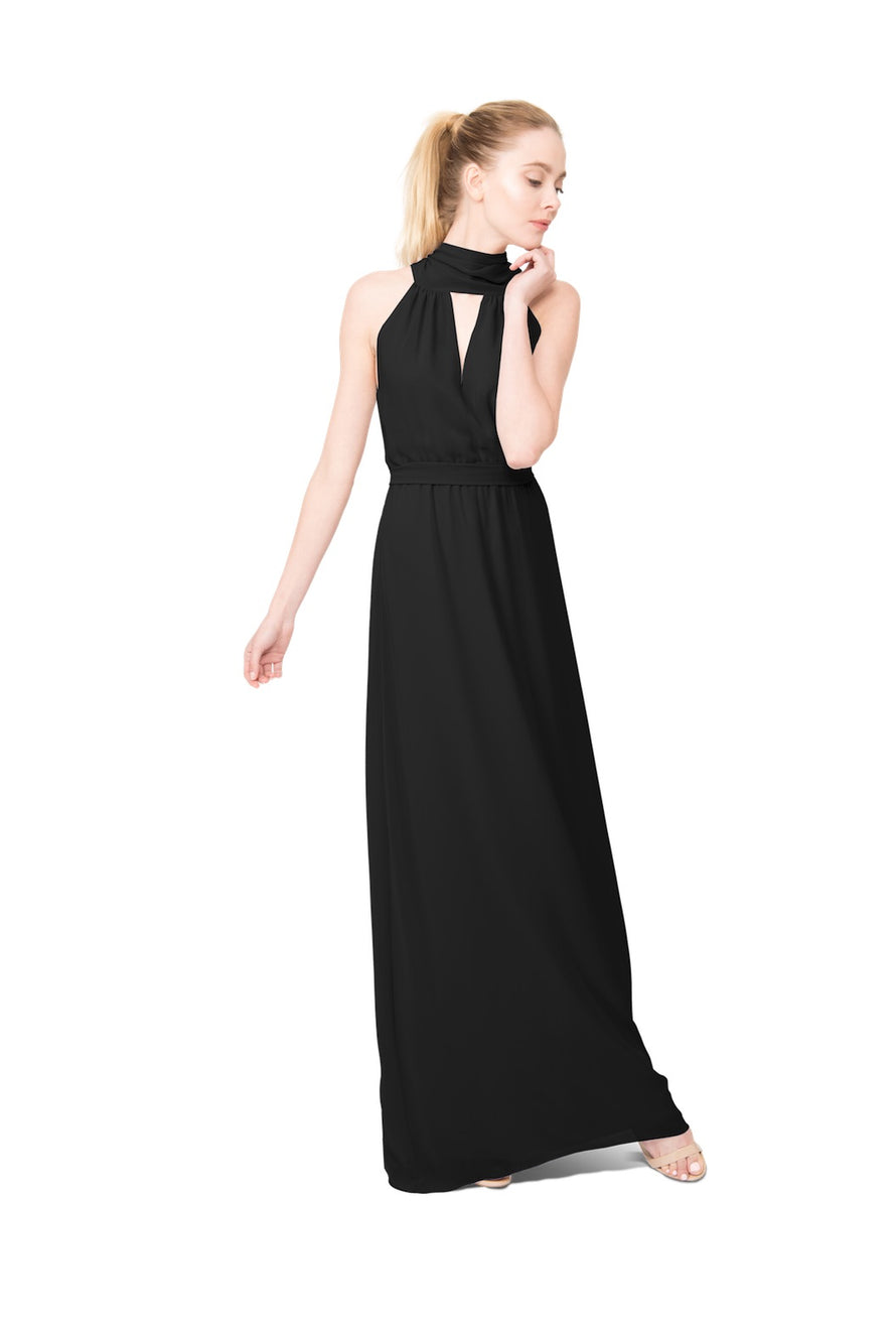 Black Long Bridesmaid Dress