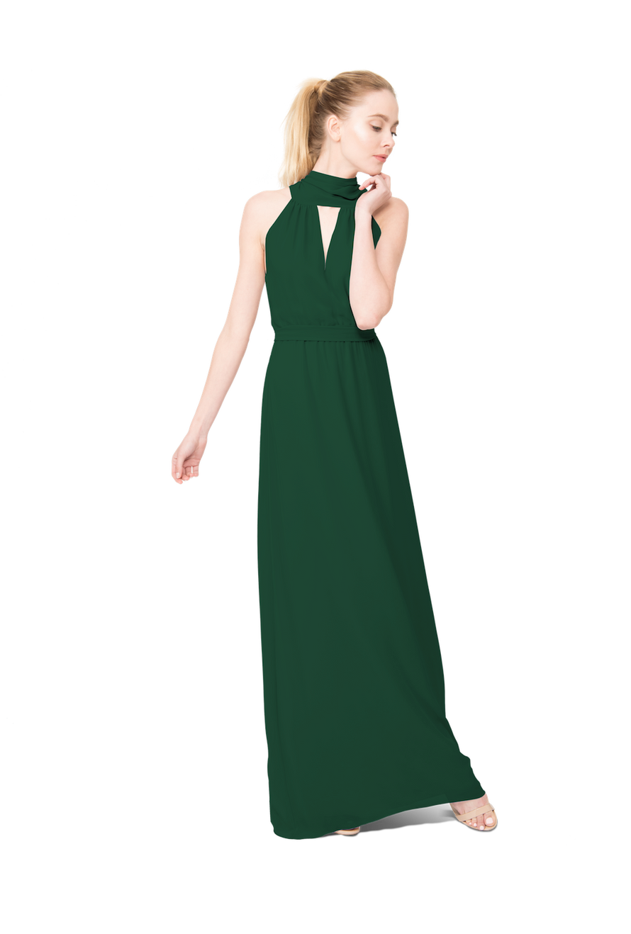 Emerald Green Long Bridesmaid Dress