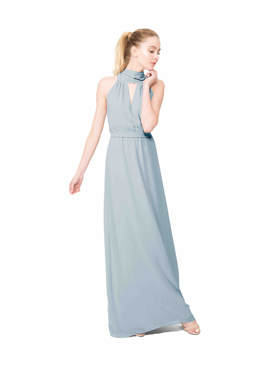 Whisper Blue Long Bridesmaid Dress