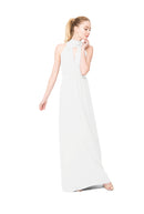 White Joanna August Long Bridesmaid Dress Riggs
