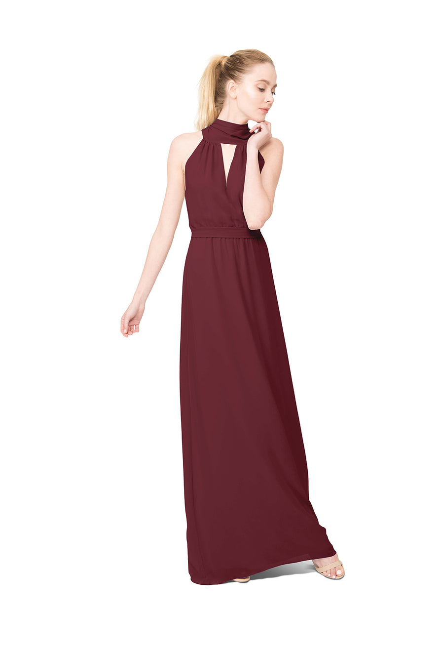 Burgundy Long Bridesmaid Dress