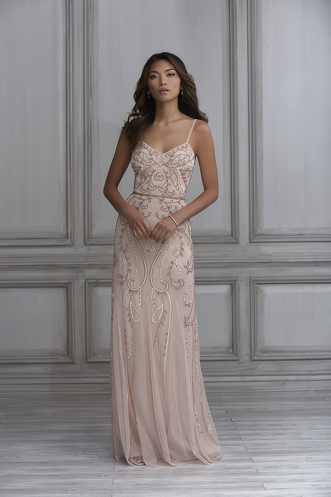 a2157022a48 Adrianna Papell Platinum Bridesmaid Dress Style 40121