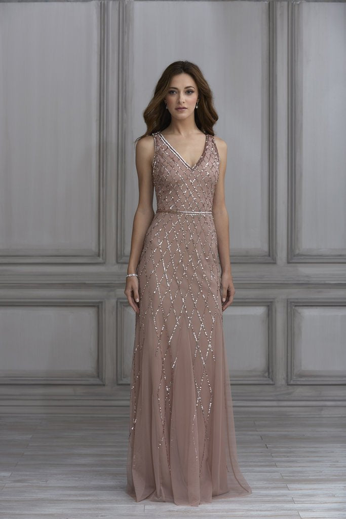 dfd5d398494 Adrianna Papell Platinum Bridesmaid Dress Style 40135