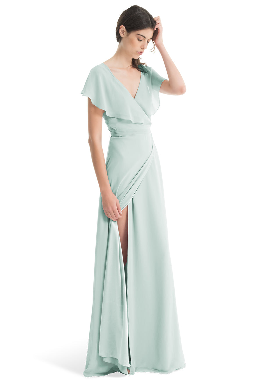 Joanna August Long Bridesmaid Dress Sage